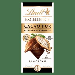 Lindt EXCELLENCE Tafelschokolade Dunkel Cacao Pur 80g
