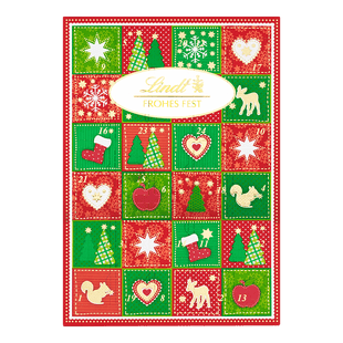 Lindt Frohes Fest Adventskalender Weihnachten 115g