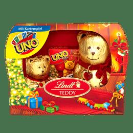 Lindt TEDDY Duo Kartenspiel Milch Weihnachten 140g