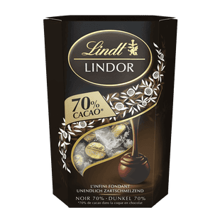 Lindt Boules LINDOR Noir 70% Cacao 200g