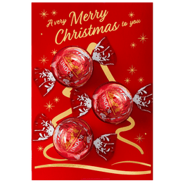 Lindt LINDOR Kugeln Milch Geschenkkarte Weihnachten 37g