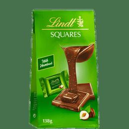 Lindt SQUARES Pralinés Lait Noisette  138g
