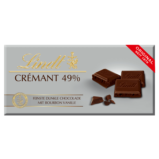 Lindt CRÉMANT Tafelschokolade Dunkel  49% 100g
