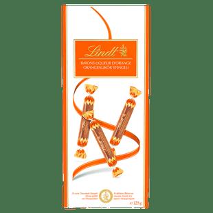 Lindt BÂTONS Liqueur Orange 125g