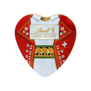 Lindt SOUVENIR Swiss Hearts Napolitains Lait Noir 90g