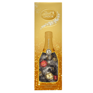 Lindt Boules LINDOR Assorties Bouteille Cadeau Noël 324g